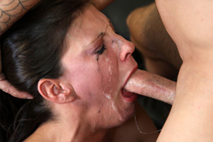 Extreme deepthroat gagging degrading 8